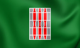 Flag of the Umbria, Italy. Royalty Free Stock Photography