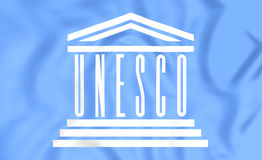 Flag of UNESCO Stock Photography