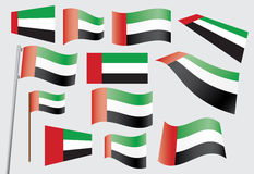 Flag of the United Arab Emirates. Set of flags of the United Arab Emirates vector illustration Royalty Free Stock Images