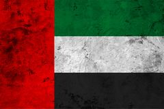 Flag of the United Arab Emirates close up Royalty Free Stock Photos