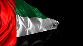 Flag of United Arab Emirates. Beautiful   3d animation of United Arab Emirates flag with alpha channel stock video