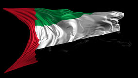 Flag of United Arab Emirates. Beautiful   3d animation of United Arab Emirates flag with alpha channel in 4k resolution stock video