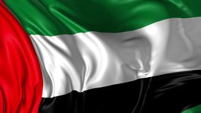 Flag of United Arab Emirates. Beautiful   3d animation of United Arab Emirates flag in loop mode stock video footage