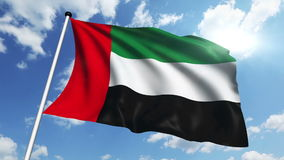 Flag of United Arab Emirates (loop) stock footage