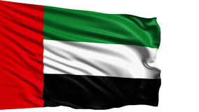 Flag of United Arab Emirates (loop) stock video