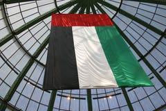 Flag of the United Arab Emirates. Pan-Arab colours, red green white and black symbolise arabian unity Royalty Free Stock Image