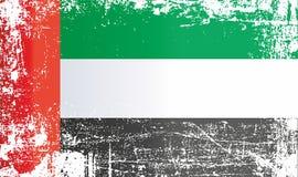 Flag of the United Arab Emirates. Wrinkled dirty spots. stock illustration