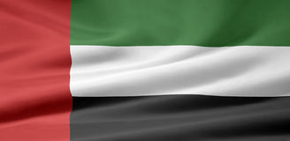Flag of United Arabic Emirates Stock Photography