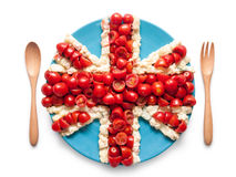 Flag of the United England made of  tomato and salad Royalty Free Stock Photography