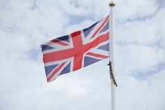 Flag of United Kingdom. Flag United Kingdom of on blue sky background Stock Photography