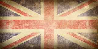Flag of United Kingdom. Old paper texture with image of flag United Kingdom Stock Photography