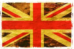 Flag of United Kingdom. Grunge background edit Royalty Free Stock Images