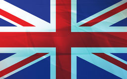 Flag of United Kingdom. Grunge background edit Royalty Free Stock Image