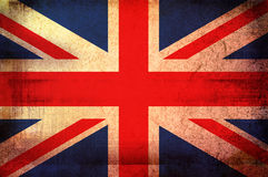 Flag of United Kingdom. Grunge background edit Royalty Free Stock Photos