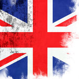 Flag of United Kingdom. Grunge background edit Stock Image