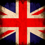Flag of United Kingdom. Grunge background edit Royalty Free Stock Photography