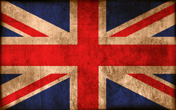 Flag of United Kingdom. Grunge background edit Royalty Free Stock Photo