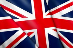 Flag of United Kingdom. This is an illustration of folded flag Stock Photo