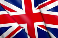 Flag of United Kingdom. This is an illustration of folded flag Royalty Free Stock Image