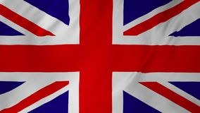 Flag of the United Kingdom animation 2 in 1. Flag of the United Kingdom high resolution detail with cloth texture animation stock video