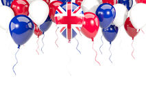 Flag of united kingdom on balloons Royalty Free Stock Photos