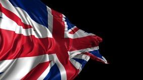 Flag of United Kingdom. Beautiful   3d animation of United Kingdom flag with alpha channel stock video