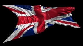Flag of United Kingdom. Beautiful   3d animation of United Kingdom flag with alpha channel in 4k resolution stock video footage