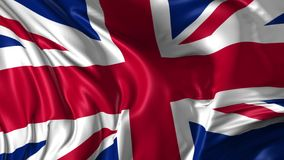 Flag of United Kingdom. Beautiful   3d animation of United Kingdom flag in loop mode stock video footage