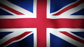 Flag United Kingdom. The United Kingdom flag blowing in the wind. Seamless loop stock footage