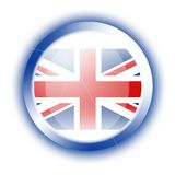 Flag of United Kingdom (circle) Stock Photos