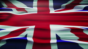 Flag of the United Kingdom Of Great Britain and Northern Ireland, also known as the Union Jack. stock video footage