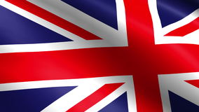 Flag of the United Kingdom Of Great Britain and Northern Ireland, also known as the Union Jack. stock video