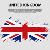 Flag of the United Kingdom of Great Britain and Northern Ireland, brush stroke background. Flag of United Kingdom. The Union Jack. Grunge UK flag Stock Image