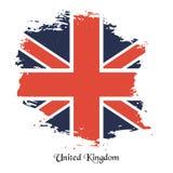 Vector British flag. Flag of United Kingdom. Grunge English flag Royalty Free Stock Image