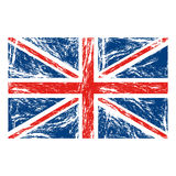Flag united kingdom with grunge texture. Illustration Stock Image