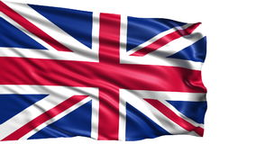 Flag of the United Kingdom (loop) stock footage