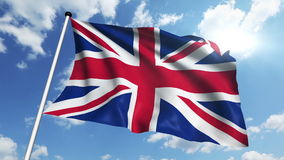Flag of United Kingdom (loop) stock video