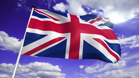 Flag of United Kingdom (loop) stock video footage