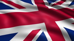 Flag of the United Kingdom (loop) stock video footage