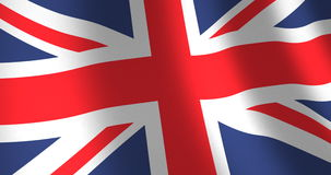 Flag United Kingdom moving wind. Union Jack flag of the United Kingdom of Great Brittain or UK with linen fabric texture which is moving in the wind. Smooth stock video