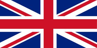 Flag of the United Kingdom royalty free stock image