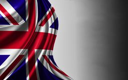 Flag of United Kingdom . Nationals flags of world country turning royalty free illustration