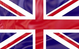 Flag of United Kingdom . Nationals flags of world country turning stock photo