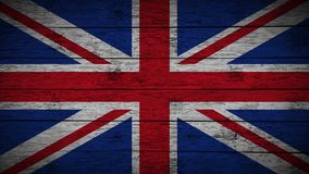 Flag of United kingdom Painted on old wood boards. wooden great britain flag. Abstract flag background. grunge England flag. Flag of United kingdom Painted on royalty free illustration