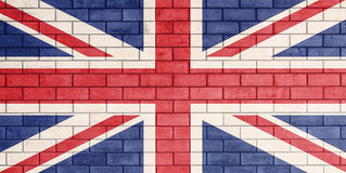 Flag of united kingdom painted. Stock Photos