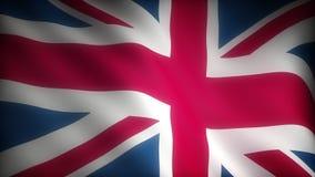 Flag of United Kingdom. (seamless stock video footage
