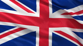 Flag of the United Kingdom seamless loop Stock Images