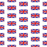 Flag of the United Kingdom seamless pattern. On white background Royalty Free Stock Image
