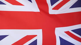 Flag of United Kingdom in slow motion stock footage
