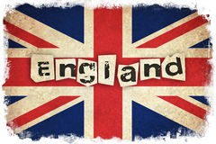 Flag of United Kingdom with text. Flag of United Kingdom / England country  with text Stock Photos